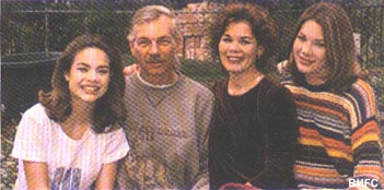 Becky and her family: dad, Wayne Herbst, mom, Debbie Herbst and sis, Jenny Daniels