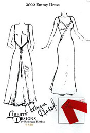 2000 Emmy Dress design autographed