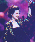 Becky at 1999 Soap Opera Digest Awards on stage after winning award for Outstanding Younger Lead Actress